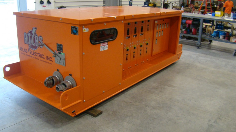 Atlas Electric Custom Skid Mounted 500 KVA Mine Power Center