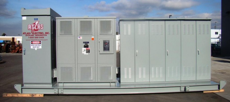 Outdoor Skid Mounted Portable Substation