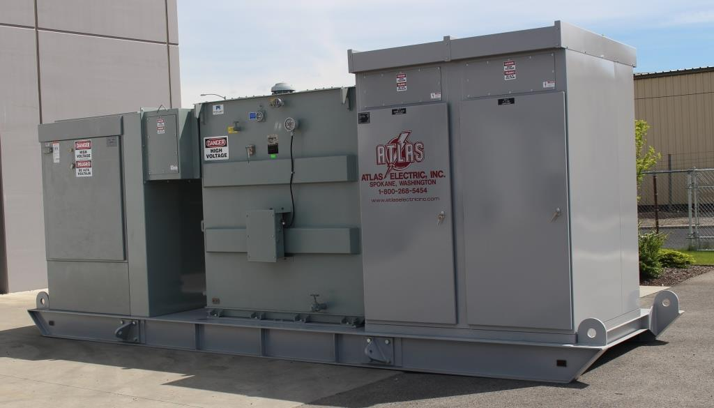 Atlas Electric Skid Mounted Portable Substation