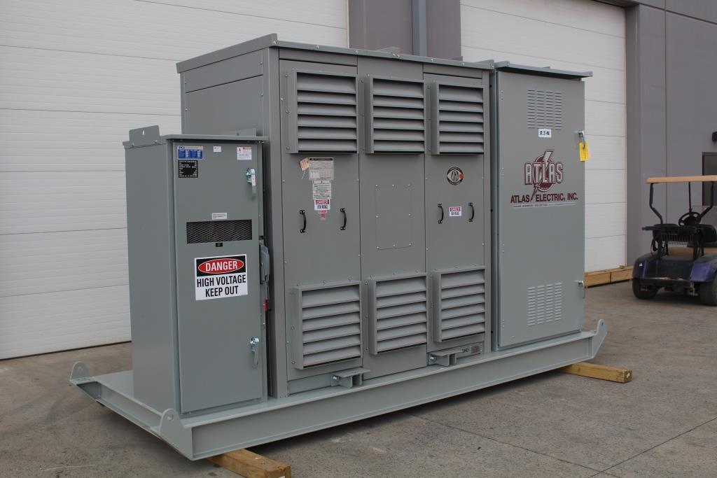 Atlas Electric Skid Mounted 750 KVA MGM Dry Transformer