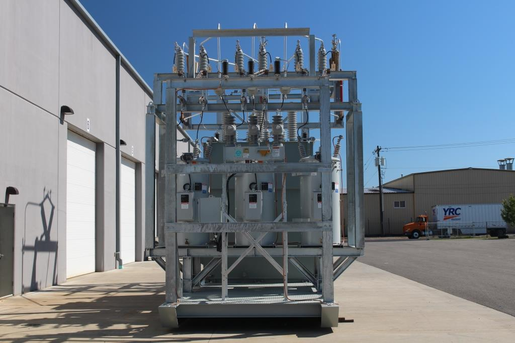 Atlas Electric 7500 KVA Skid Mounted Portable Substation