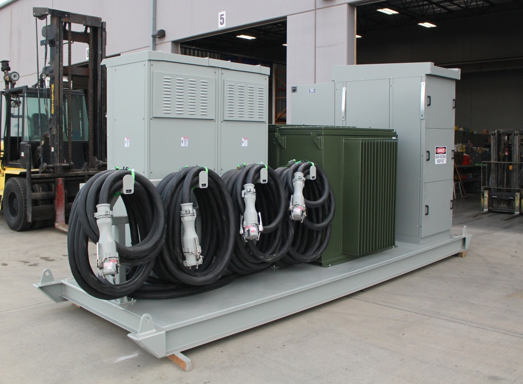 Atlas Electric 750 KVA Skid Mounted Portable Substation