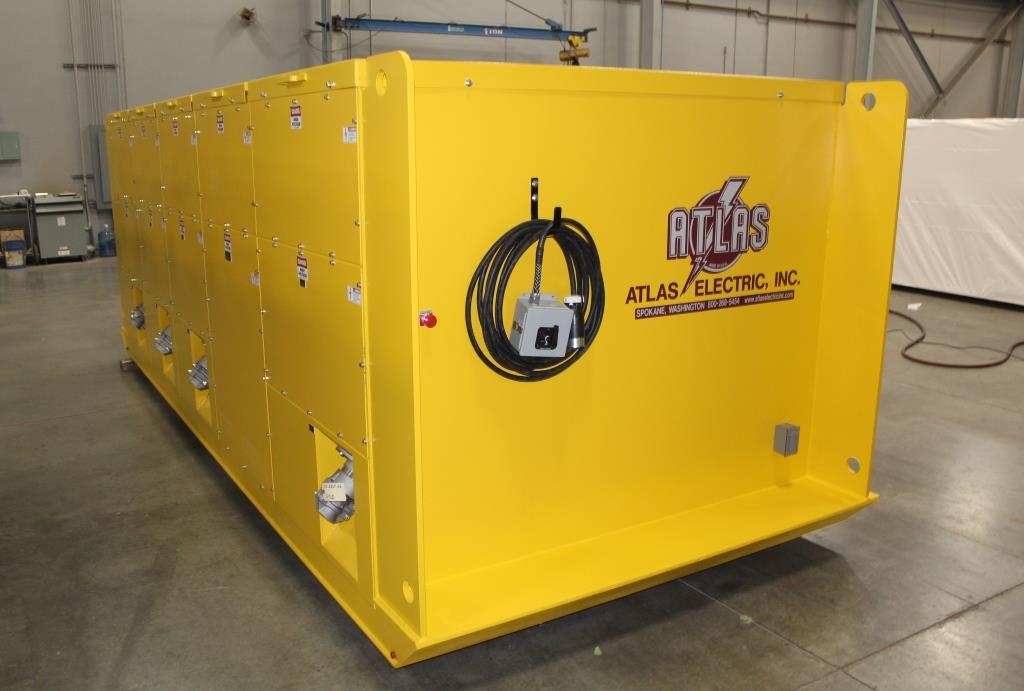 Atlas Electric Custom 15 KV Skid Mounted Power Distribution Switchgear