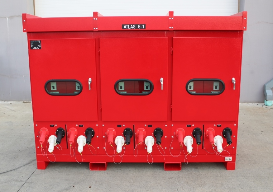 Atlas Electric Shipyard Heavy Duty Skid with forklift pockets designed for lifting and towing in either direction