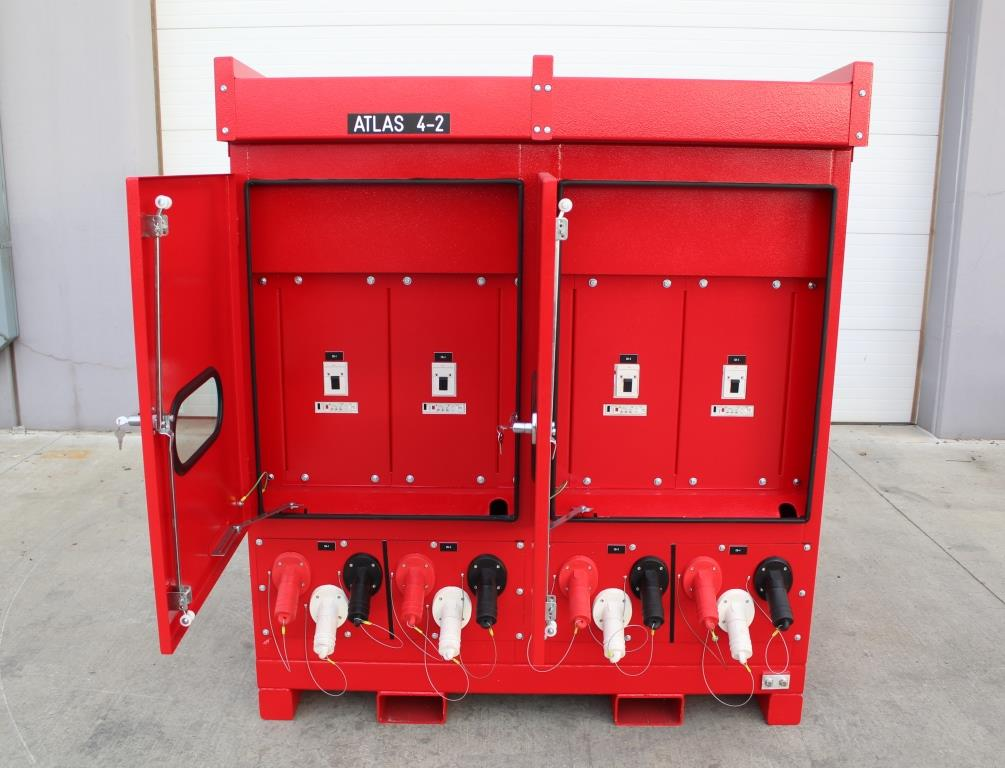 Atlas Electric Shipyard quantity of 4 Portable Power Distribution Skids