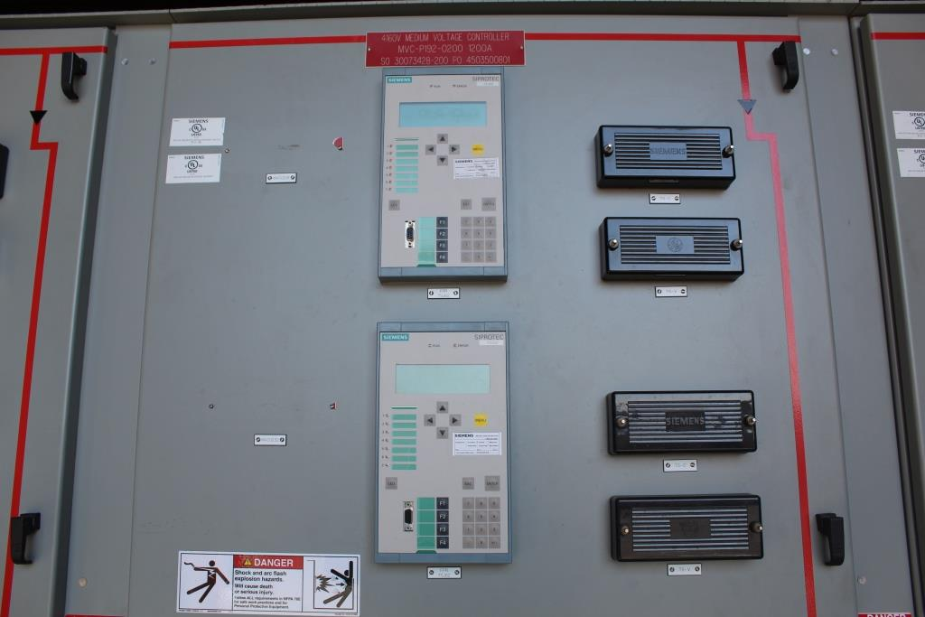 Siemens Medium Voltage Motor Control Center 1200 Amp 5 KV
